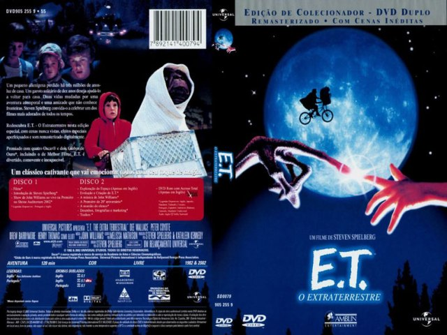 E.T. the Extra-Terrestrial (no Brasil E.T. - O Extraterrestre) é um filme de 1982, dos gêneros ficção científica e drama, dirigido por Steven Spielberg. Um alienígena perdido na Terra faz amizade com um garoto chamado Elliott de dez anos, que o protege de todas as formas para evitar que ele seja capturado e transformado em cobaia pelo serviço secreto americano.